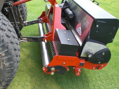 Rotadairon overseeder achieves impressive coverage
