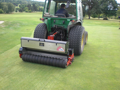 Dairon Overseeder helps keep Enfield Course to Tournament Standards