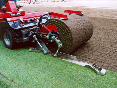 Photo of turf harvester