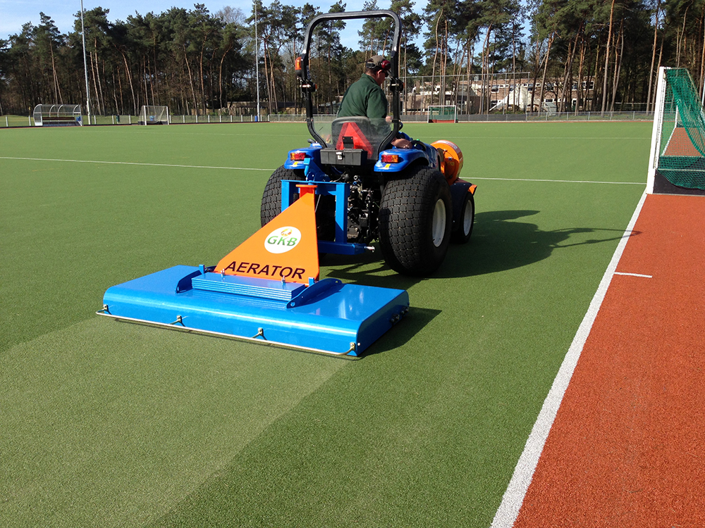 Photo of artificial turf equipment